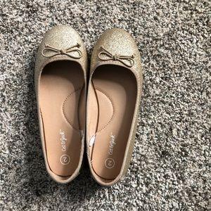 Girls Cat & Jack Gold Sparkle Ballet Flat